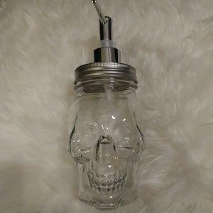 Circle Glass Crystal Skull Soap Dispenser